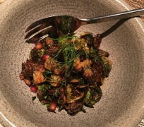 Brussel Sprouts with Pomegranate & Bacon