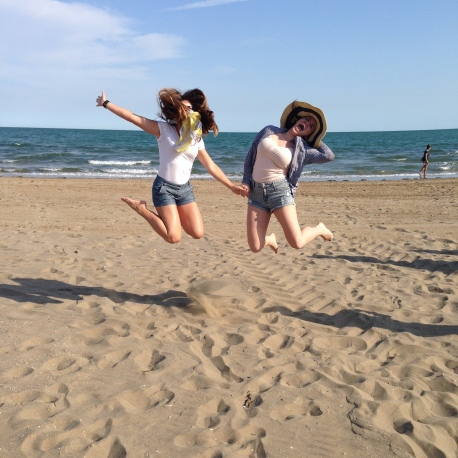 Silliness on the beach in Italy