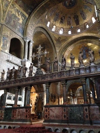 Inside St. Mark's Basilica
