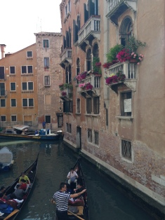 Venetian waterways in Venice, Italy