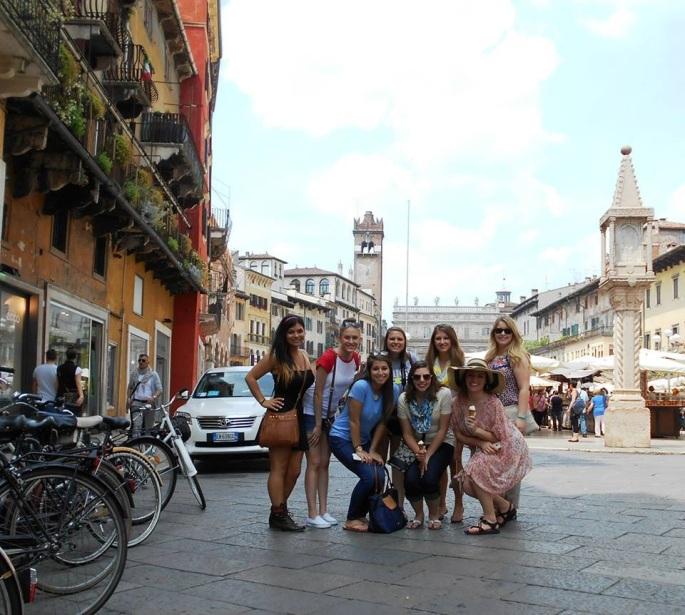 The market in Verona, Italy