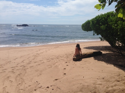 Soaking up the sun on the beach in El Salvador