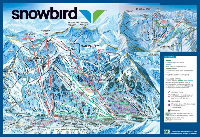 Snowbird Mountain Trail Map
