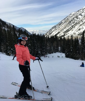 Skiing in Snowbird, Utah