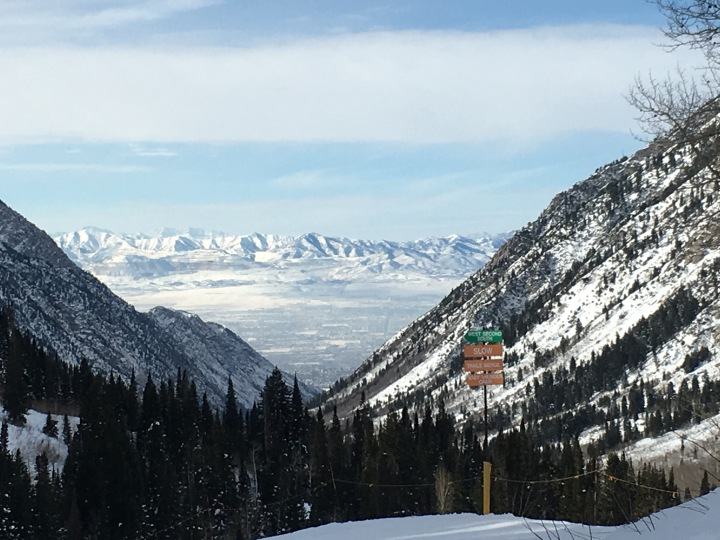 The view from the slopes of Snowbird, Utah