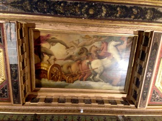 The ceiling in Palazzo Medici Riccardi, Florence, Italy