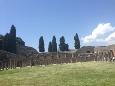 The ruins in Pompeii, Italy