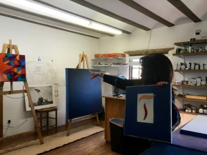 The studio at McLarry Modern Santa Fe, New Mexico
