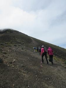 Hiking to the top of Acatenango in Antigua, Guatemala