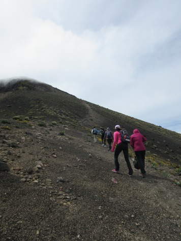 Hiking to the top of Acatenango in Antigua, Guatemala