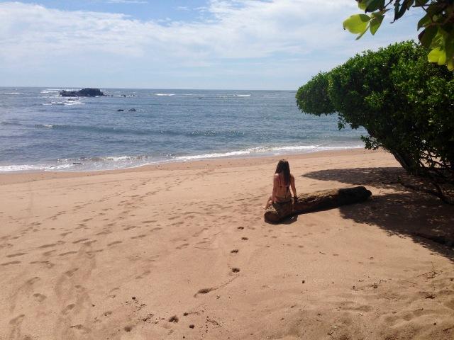 On the beach in El Salvador