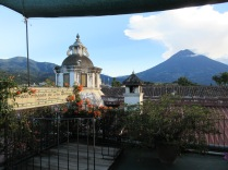 Rooftop coffee spot in Antigua, Guatemala