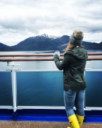 Looking out on Alaska from the Crown Princess cruise
