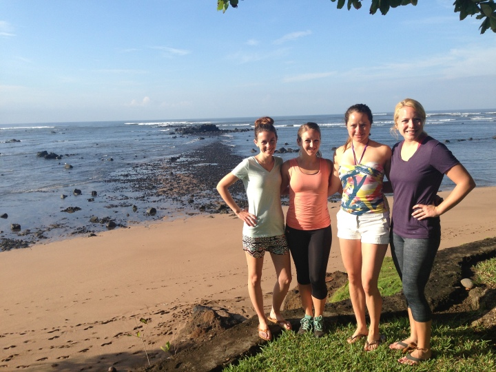 The Core 4 travel buddies at the beach in El Salvador