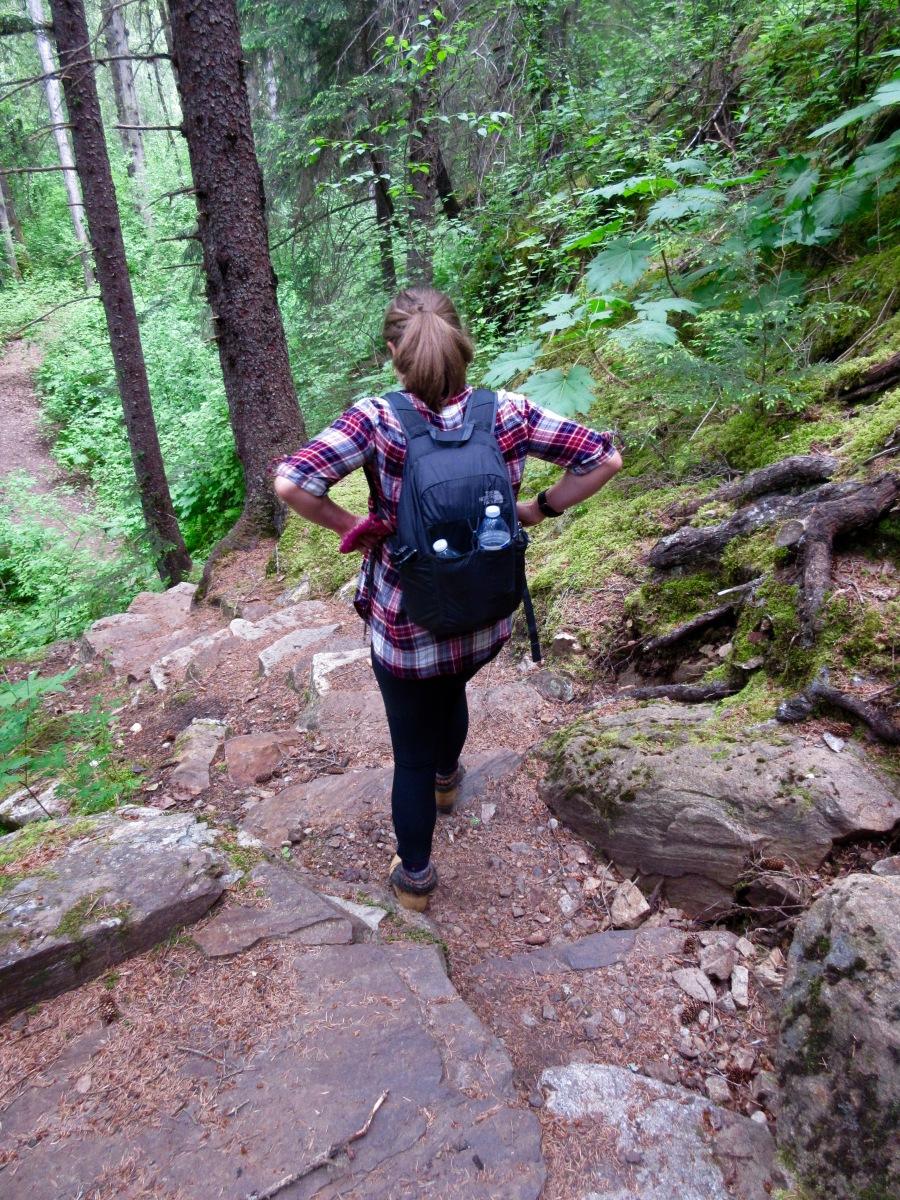 Hiking on the Chilkoot Trail in Skagway, Alaska
