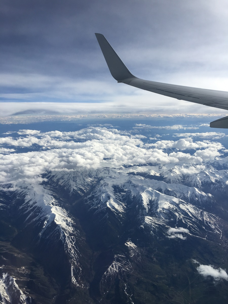 The view from the plane heading to Seattle, Washington