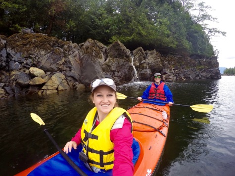 Sea kayaking in Orca Cove, Ketchikan Alaska