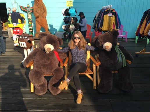 Hanging with my bear friends in Ketchikan, Alaska