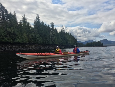 Sea kayaking in Orca Cove, Ketchikan Alasak