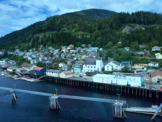 View of Ketchikan, Alaska from the Crown Princess cruise ship
