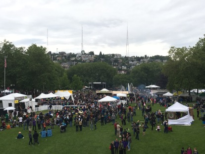 Folk festival in Seattle Washington