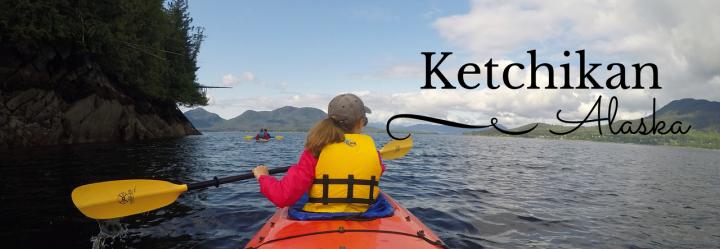 Sea kayaking in Orca Cove, Ketchikan Alaska
