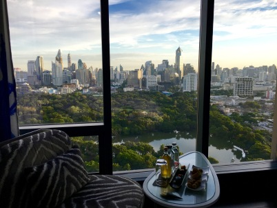 The view of Bangkok city form the So Sofitel Hotel in Bangkok, Thailand