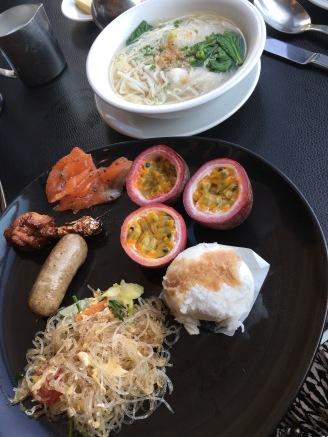 Breakfast at the So Sofitel Hotel in Bangkok, Thailand