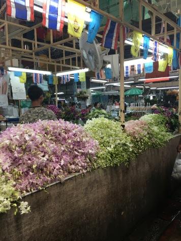 A flower market in Bangkok Thailand