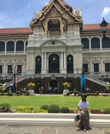 Outside of the Grand Palace in Bangkok, Thailand