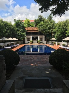 The pool at the Rachamankha hotel in Chiang Mai, Thailand