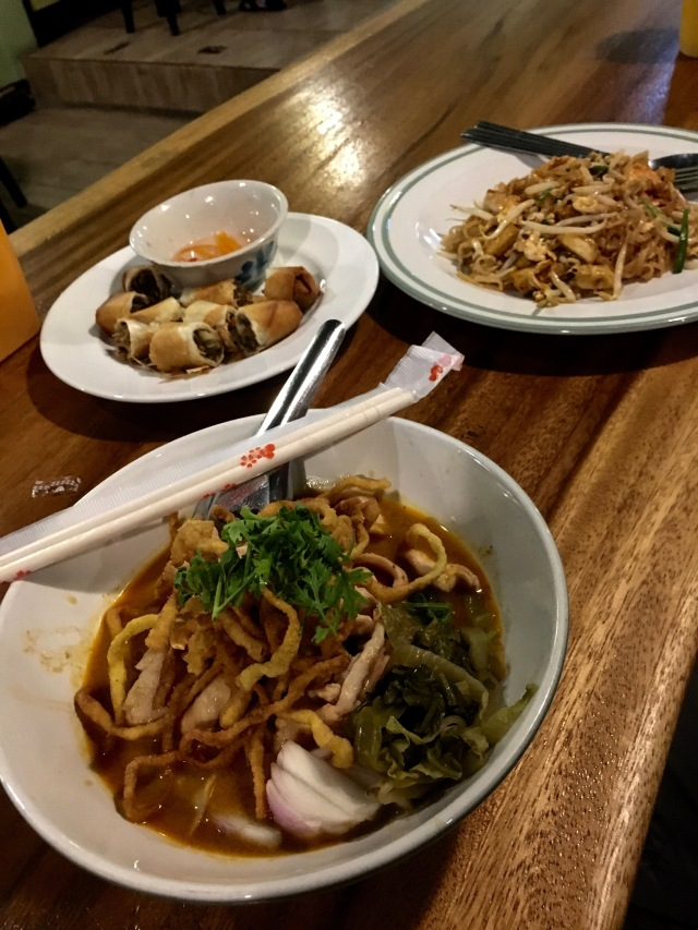 A delicious dinner in Chiang Mai, Thailand