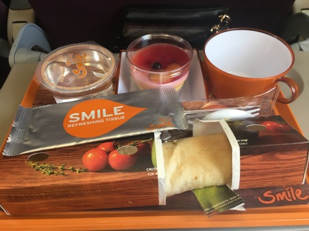 Curry burrito on Thai Smile Airways