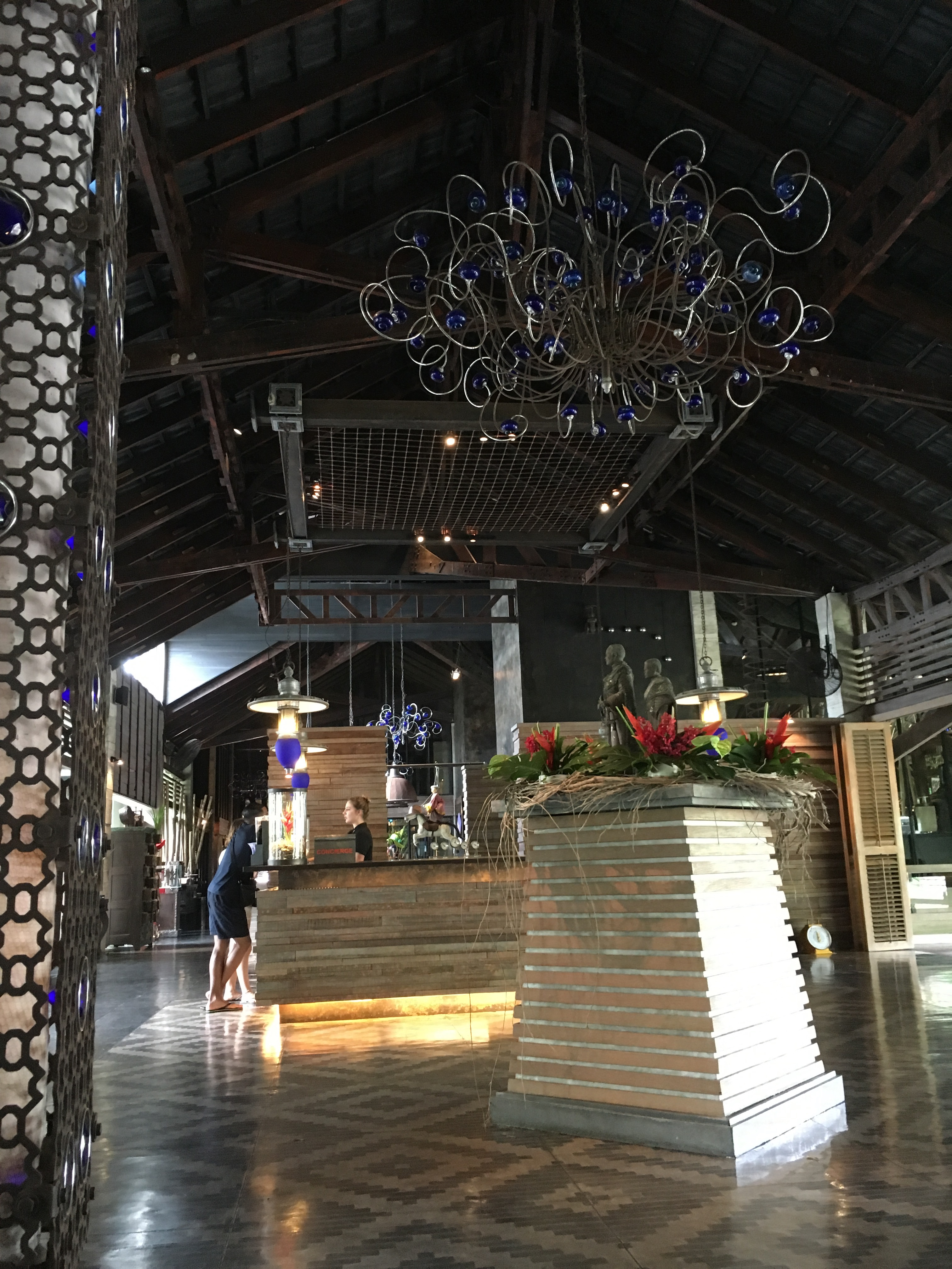 the lobby of the slate hotel in phuket thailand