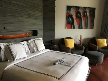 Our room at The Slate hotel in Phuket, Thailand