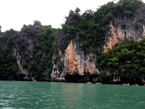 Canoeing outside of Phuket, Thailand