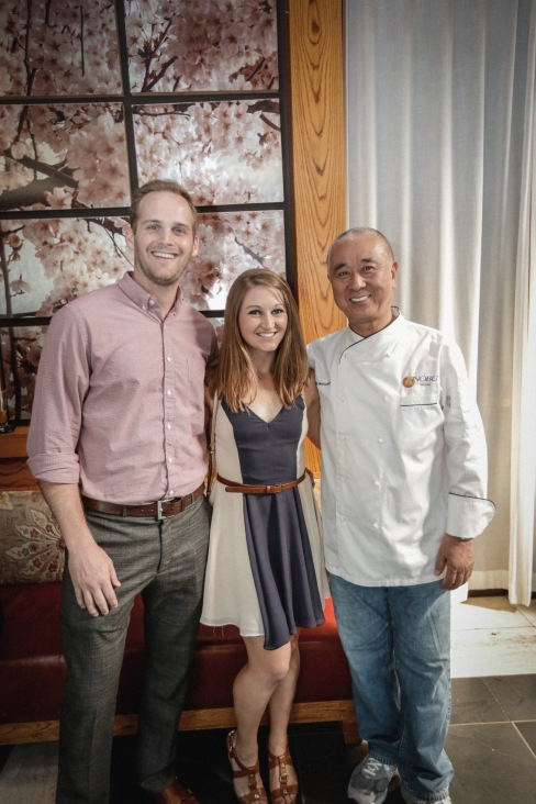 Meeting Chef Nobu at Nobu, Dallas