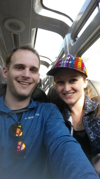 On the train to Machu Picchu in Ruins in Ollantaytambo, Peru