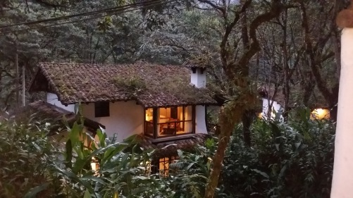 The view from our room at the Inkaterra Machu Picchu Pubelo Hotel