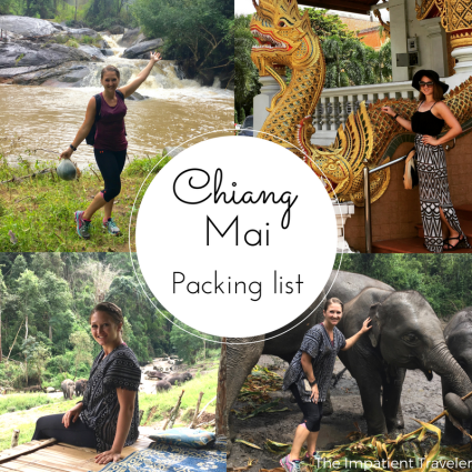 Chiang Mai Packing List