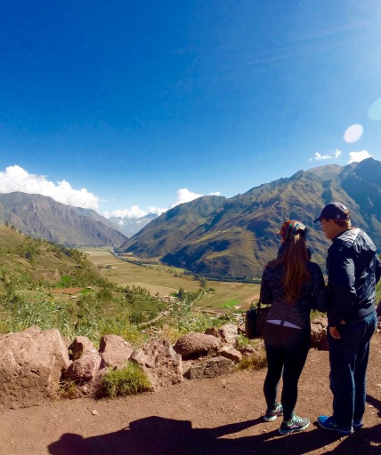 My dad and I looking over the Sacred Valley on the way to Machu Picchu, Peru