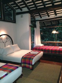 Our room at the Inkaterra Machu Picchu Pubelo Hotel