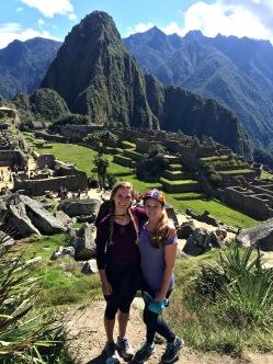 My sister & I atop Machu Picchu, Peru