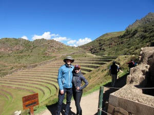 Terrace farming ruins in the Sacred Valley, Peru