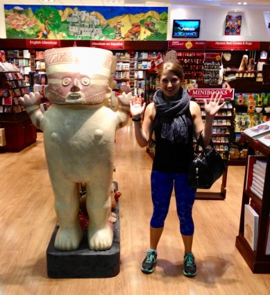Pachamama & I at the Lima airport