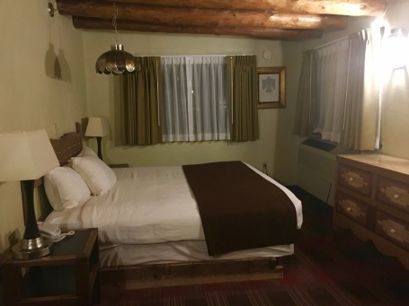 One of our rooms at the Sagebrush Inn in Taos, New Mexico