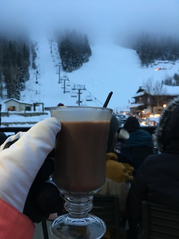 Hot coco to stay warm while waiting for the Taos Ski Valley fireworks