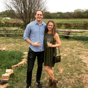 Tasting wine at the Torre Di Pietra Winery in Fredericksburg, Texas