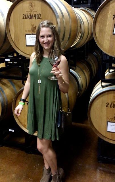 The barrel room at Grape Creek Winery in Fredericksburg, Texas