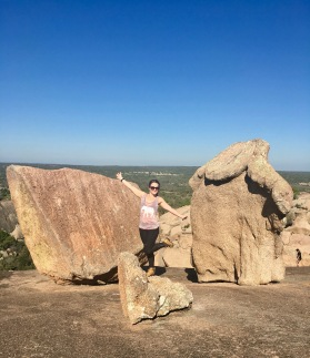 On top of Enchanted Rock outside of Fredericksburg, Texas